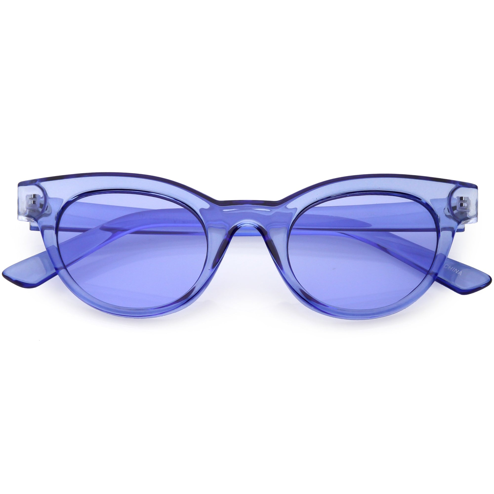 104f391b7c Women s Retro Transparent Color Flat Lens Cat Eye Sunglasses - zeroUV