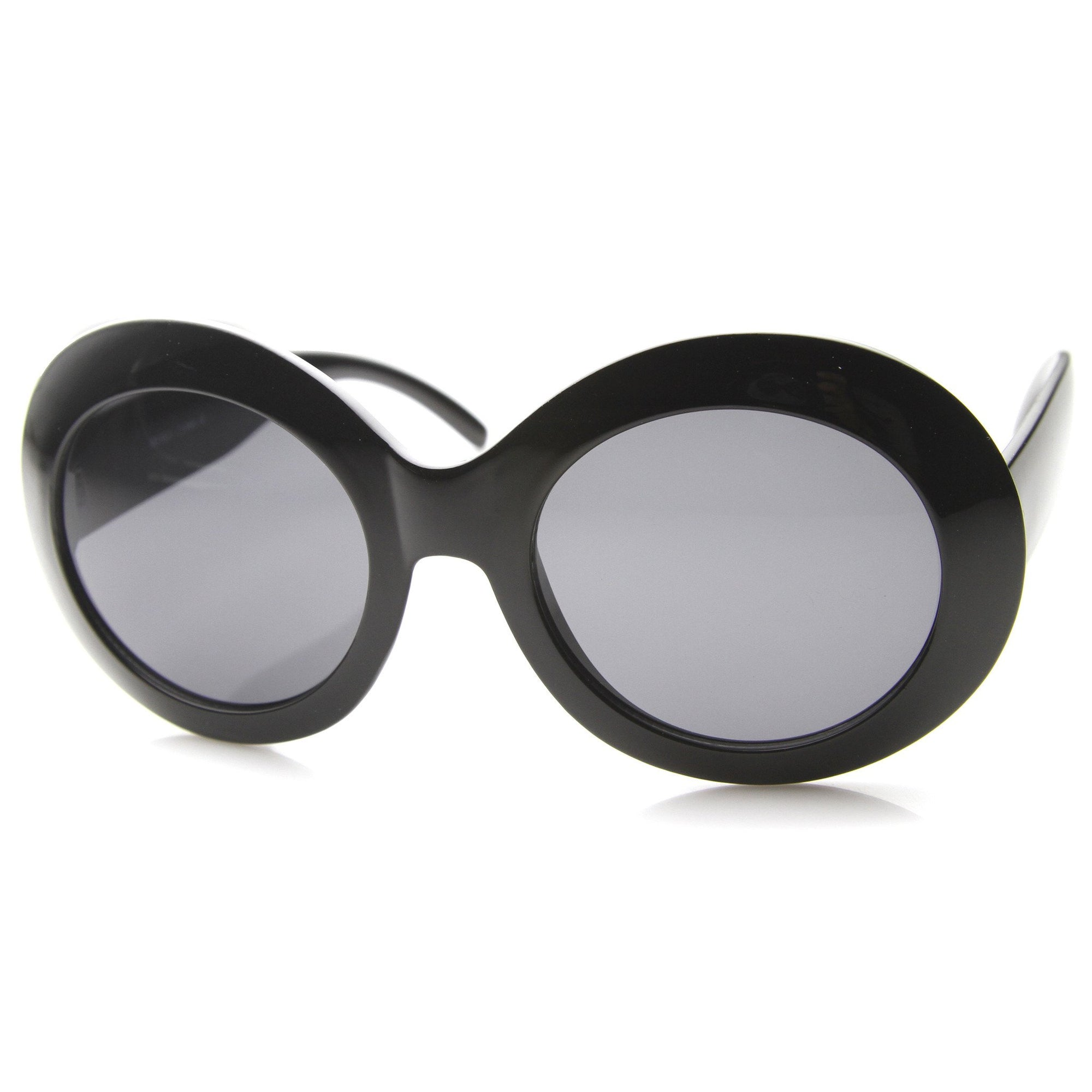 a3572b7e51 ... Retro 1950 s Women s Oval Bold Round Sunglasses 9992 · Black Smoke ·  Black Smoke