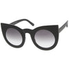 Oversize Round Circle Pointed Cat Eye Sunglasses 9180