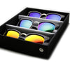 Retro Horned Rim Half Frame Mirror Lens Sunglasses + Travel Case 9309