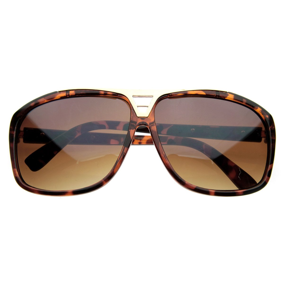 b22f102eede3 Designer Fashion Square Flat Top Aviator Sunglasses - zeroUV