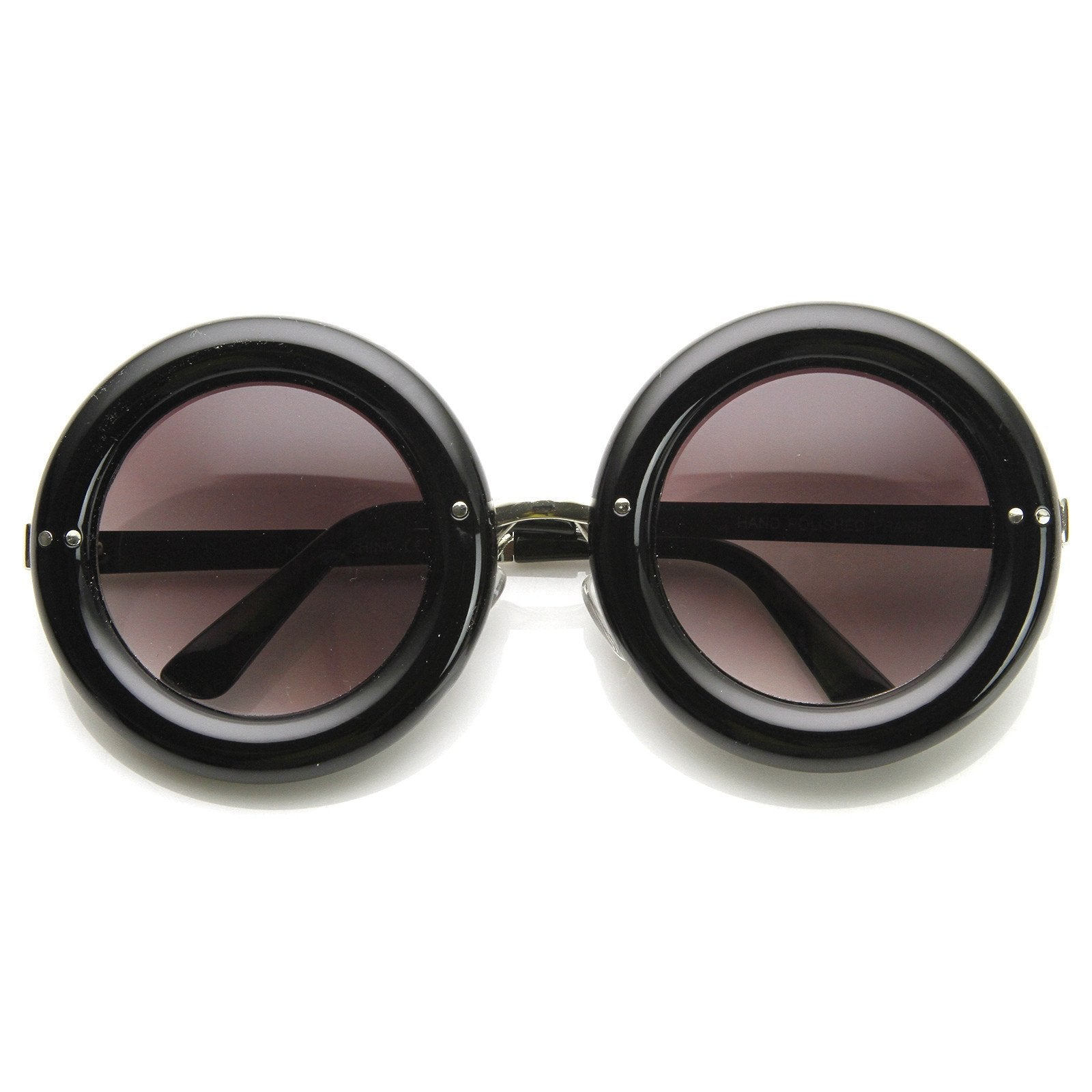 801c765433 ... 1950 s Women s Fashion Donuts Round Retro Sunglasses · Creme · Creme ·  Black · Black