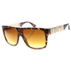 Love Hate Arm Detail Gradient Lens Square Sunglasses 9850