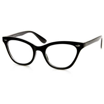 Womens Retro 1950's Fashion Clear Lens Cat Eye Glasses 9276