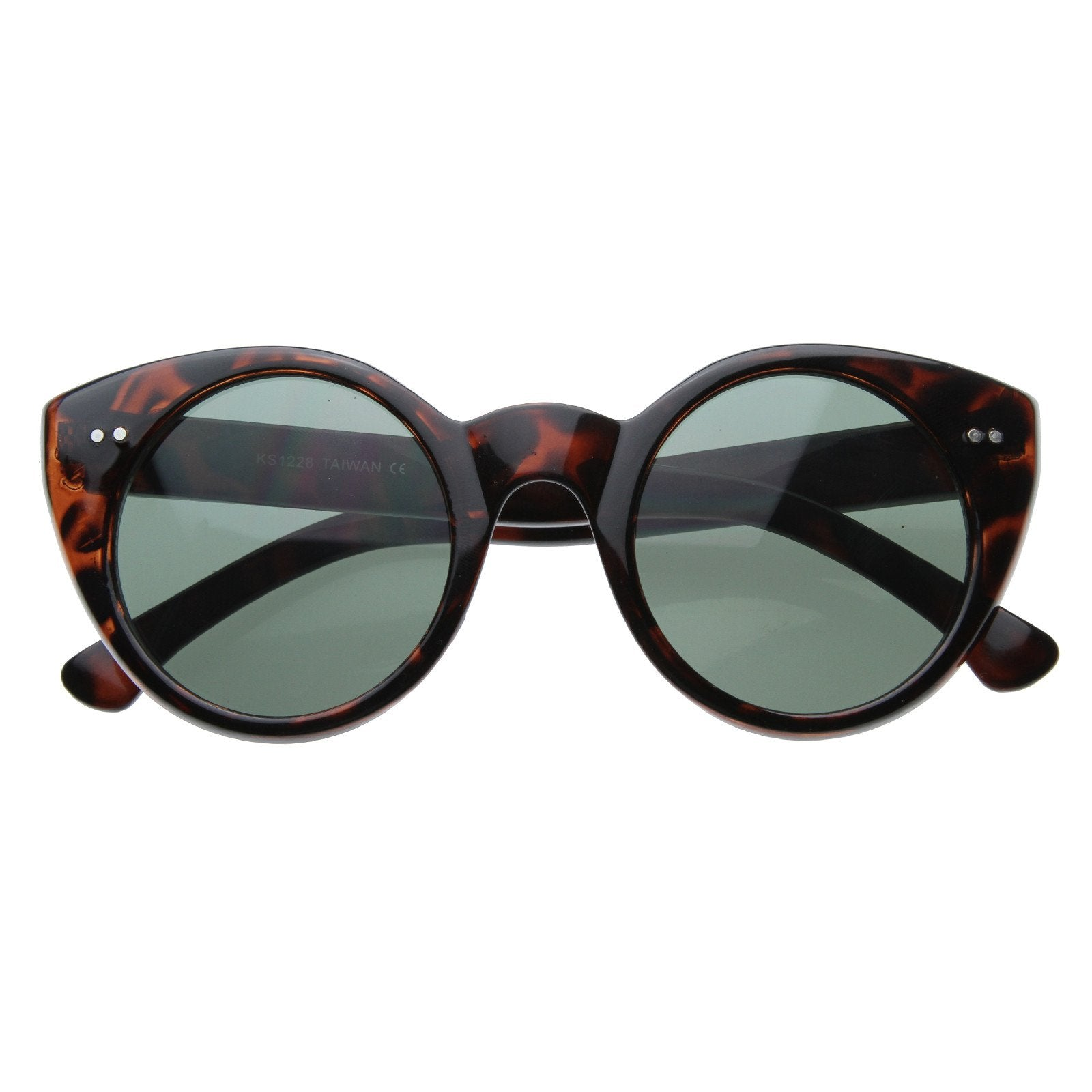 Womens Fashion Modern Cat Eye Retro Circle Round Sunglasses 8297