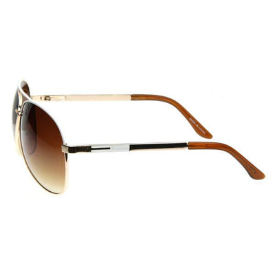 Designer Inspired Large Metal Aviator Sunglasses 1508