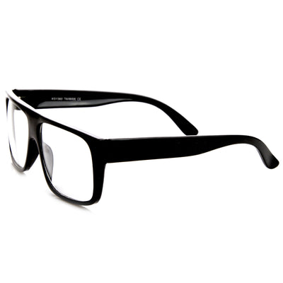 Flat Top Square Clear Lens Fashion Glasses 8807