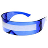 Futuristic Retro Daft Punk Monoblock Shield Sunglasses 9111