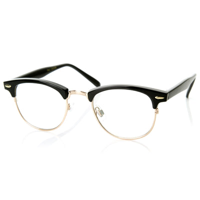 bfc9708f384 Vintage Optical RX Clear Lens Clubmaster Glasses - zeroUV