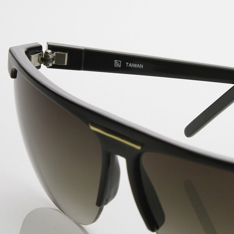 Genuine Half Frame Sports 1980's Flat Top Aviator Sunglasses 7009