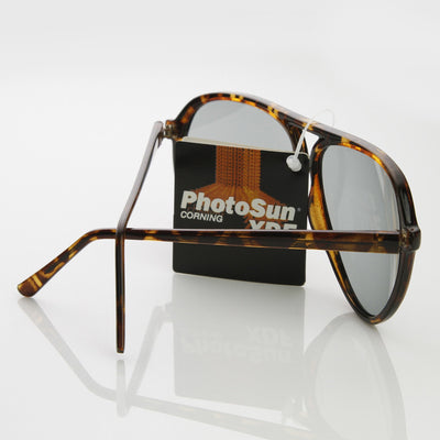 Genuine Vintage 1980's Fashion Photosun XDF Lens Aviator Sunglasses 7220