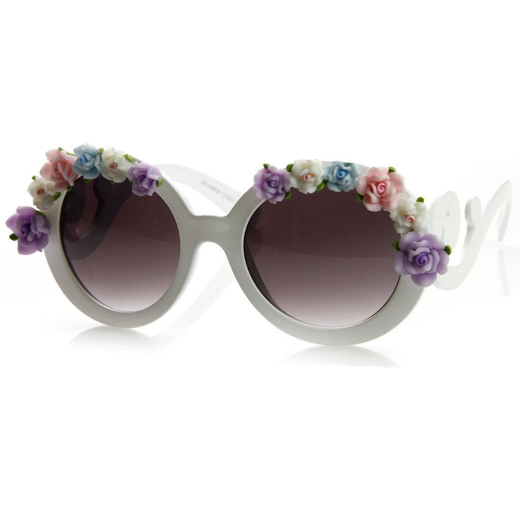 Celebrity Dani Amp Bella Thorne Swirl Flower Sunglasses 8852