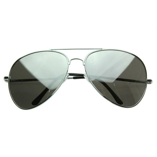 6ba7b3f1a Oversize Retro Mirrored Lens Metal Aviator Sunglasses 1588 64mm