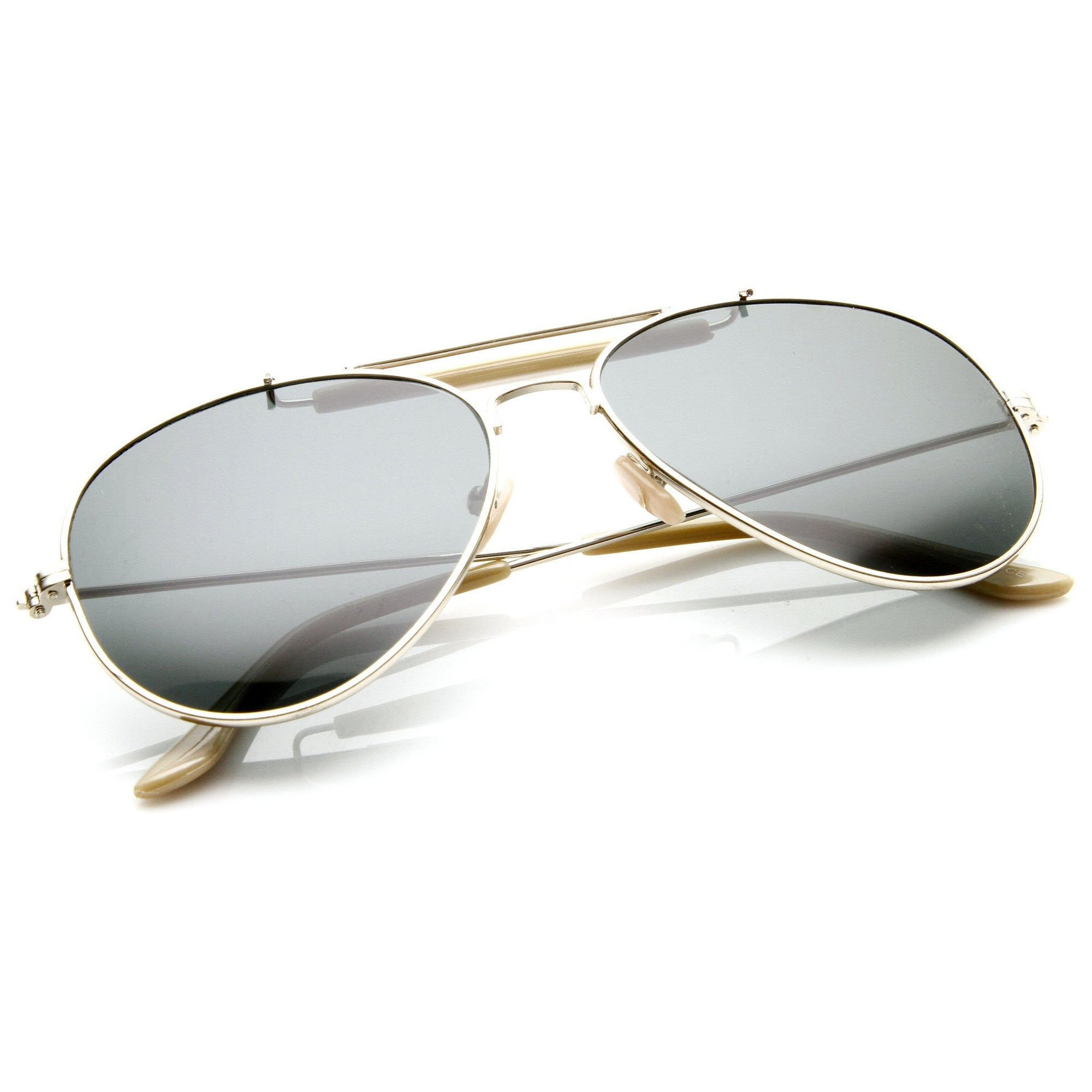 095c7c0afe229 ... Classic Outdoorsman Style Metal Aviator Sunglasses 55mm 8837 · Gold ·  Gold · Gold