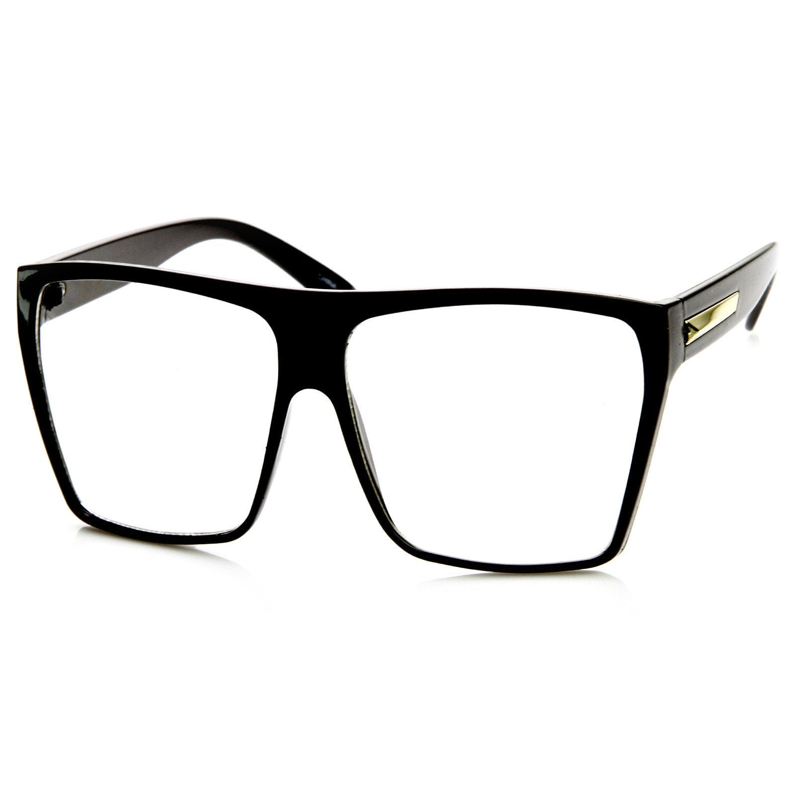 97a0b386fe5 ... Super Oversize Square Clear Lens Fashion Glasses 8830 · Black · Black