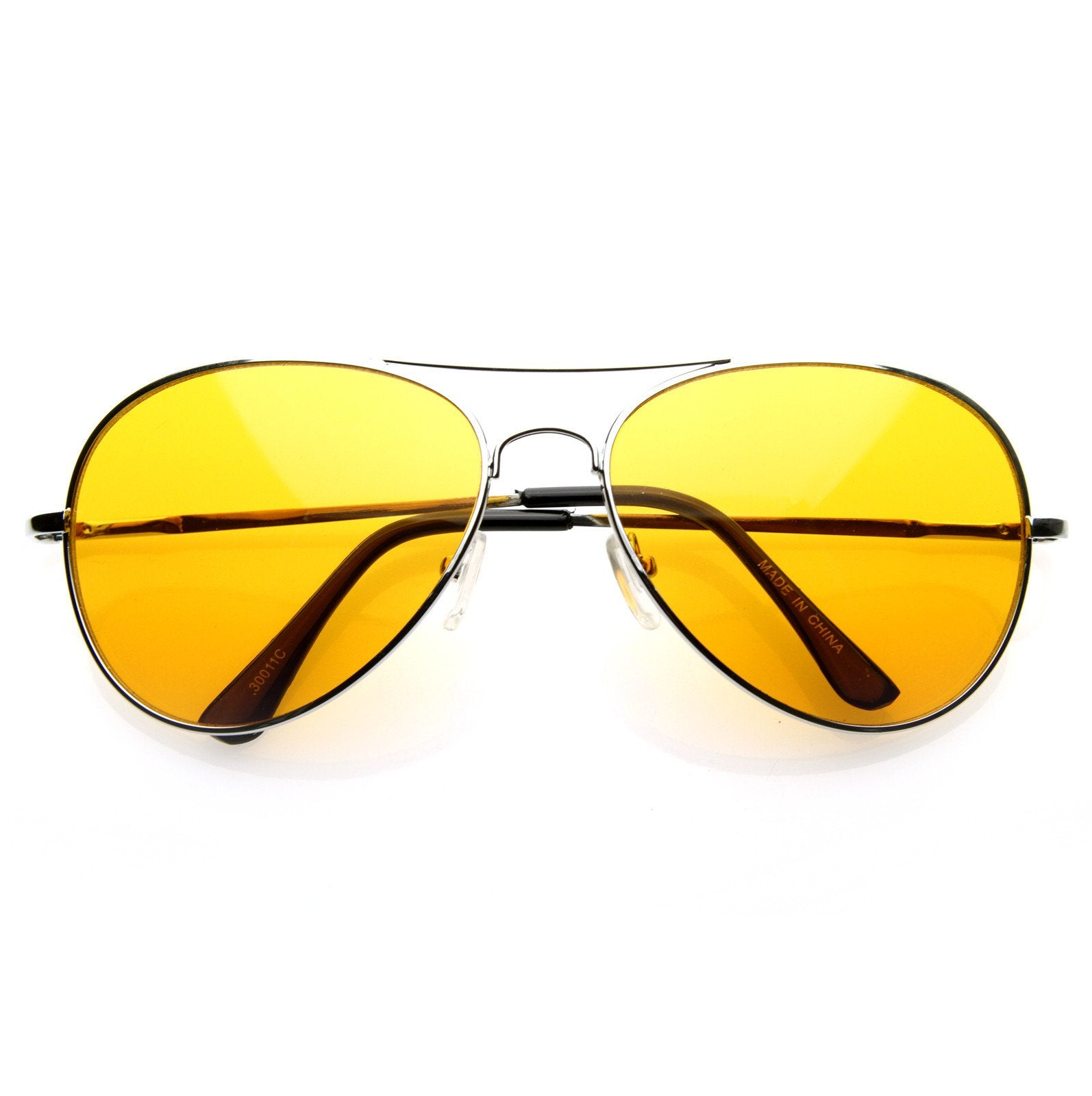 fb035d19d5 ... Retro Metal Color Tinted Lens Aviator Sunglasses 8405 59mm · Orange