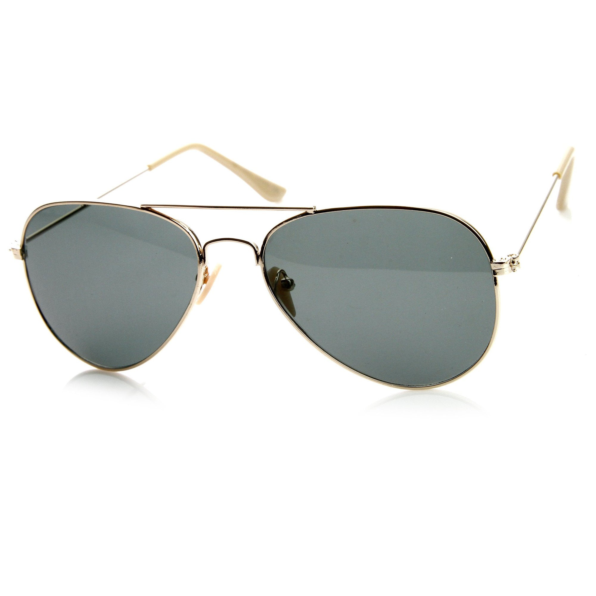 f0c727f370 ... Pilot Tear Drop Glass Lens Aviator Sunglasses 58mm 8840 · Gold · Gold