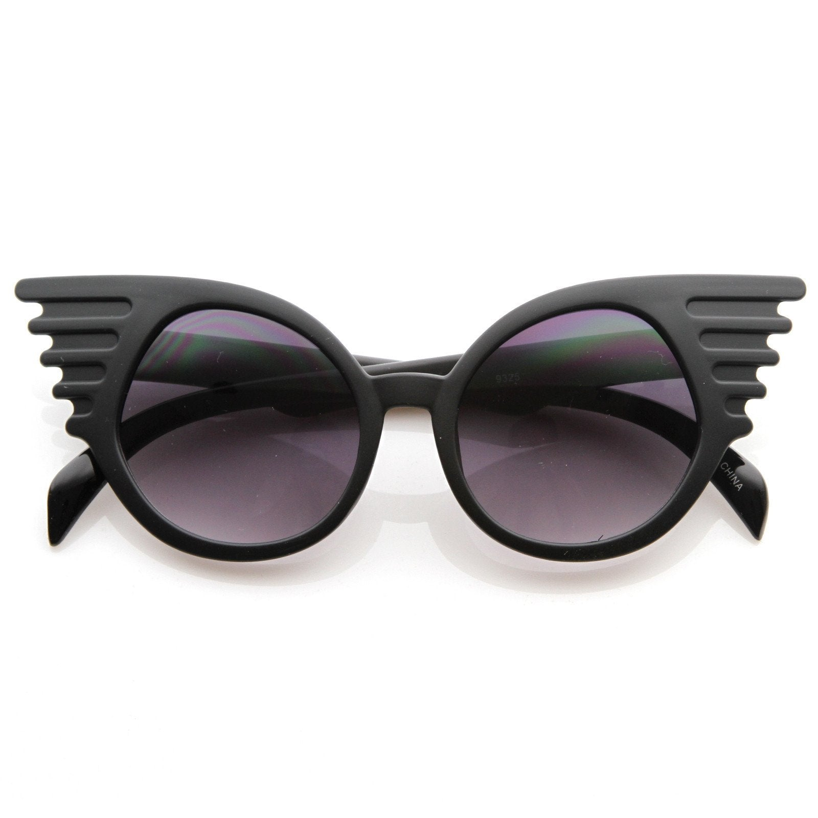62deaac6178c Trendy Unique Fashion Angel Wings Round Sunglasses - zeroUV