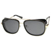Square Side Cover Mirrored Lens Aviator Sunglasses 9896