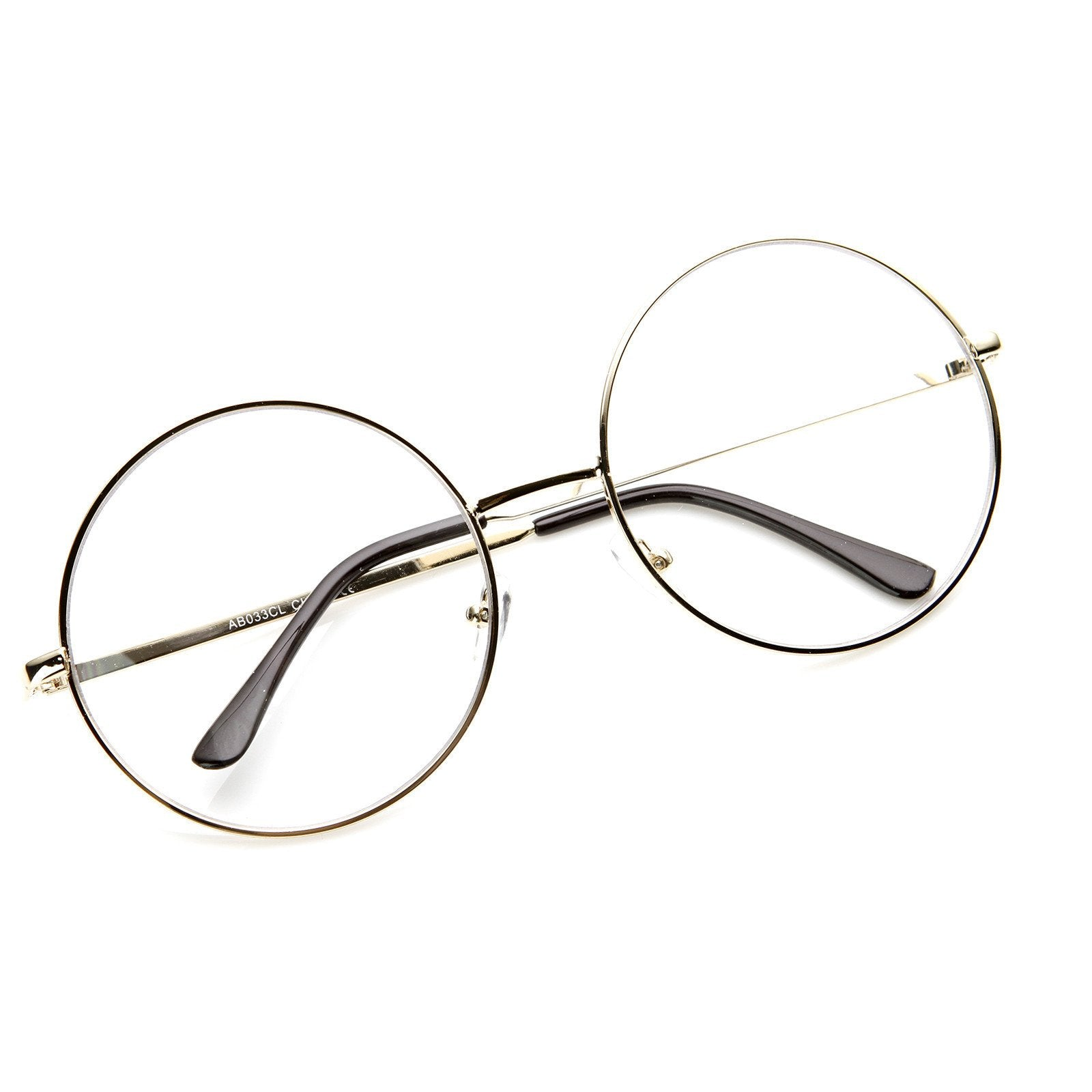 0f3965aee97 ... Large Round Metal Clear Lens Glasses 8714 · Gold · Gold · Gold