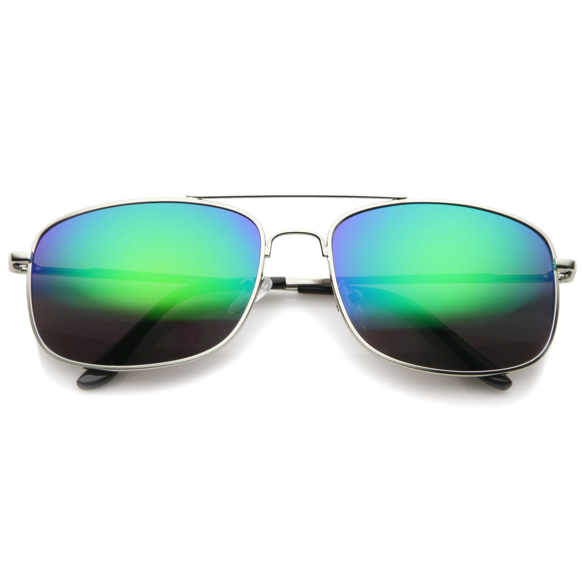 ea73ab9c237 Men s Sports Silver Metal Mirror Lens Aviator Sunglasses A027. Silver  Mirror. Silver Mirror. Silver Midnight. Silver Ice. A027-01