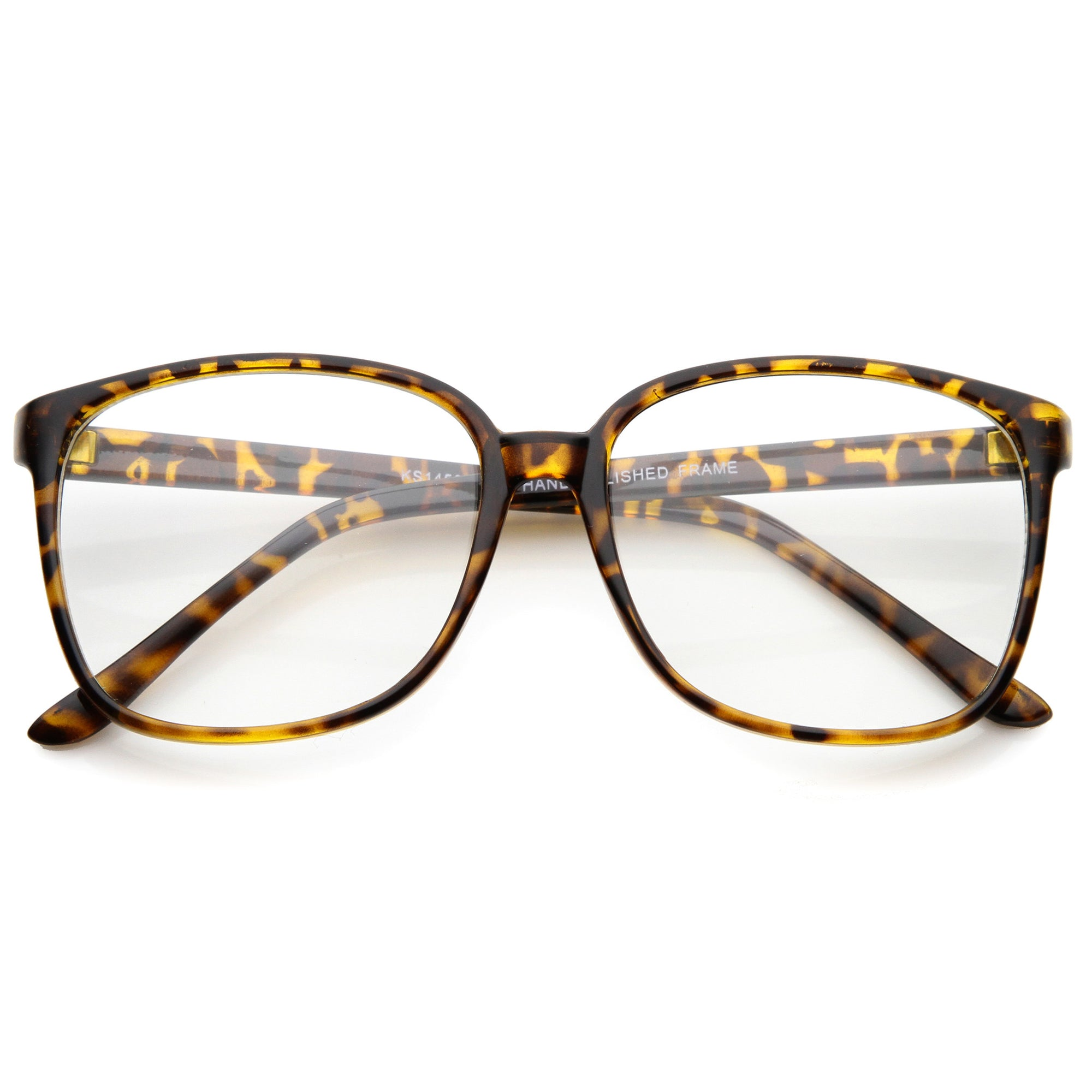 Casual Square Thin Frame Indie Clear Lens Glasses - zeroUV