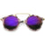 Arched Marble Pattern P3 Mirrored Lens Round Sunglasses A218