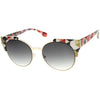 Modern Indie Corner Accent Cat Eye Sunglasses A223