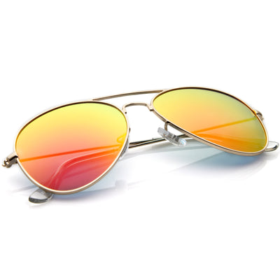 Premium Nickel Plated Frame Multi-Coated Mirror Lens Aviator Sunglasses A284