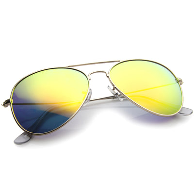 Classic Metal Mirrored Coated lens Aviator Sunglasses C774