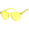 Rimless Monoblock Cut PC Color Lens Rimless Sunglasses A368