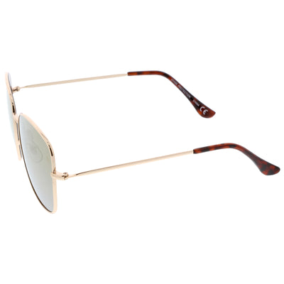 Oversize Modern Square Color Mirrored Sunglasses A389