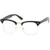 Vintage Inspired Classic Horned Rim Half Frame Clear Lens Glasses 2933
