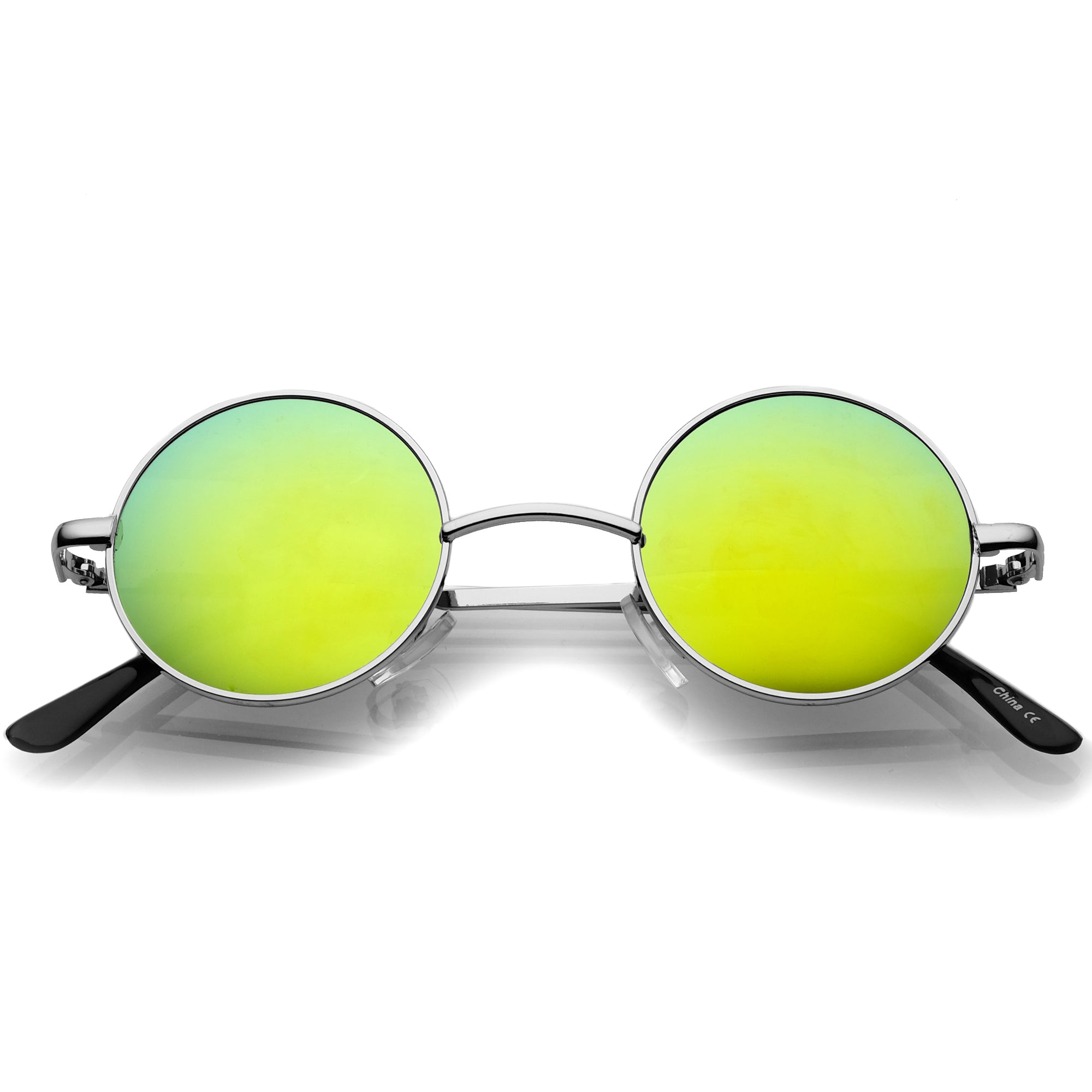 Retro Lennon Style Round Circle Metal Mirror Lens Sunglasses 1408