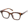 Everyday Modern Square Horn Rimmed Blue Light Blocking Clear Lens Glasses C070