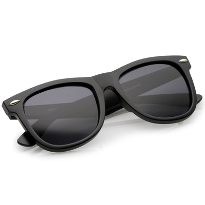 Classic Large Polarized Lens Horned Rim Sunglasses 6105