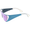 Futuristic Space Cadet Metal Cutout Shield Sunglasses C297