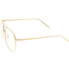 Vintage Dapper Indie Clear Flat Lens Aviator Glasses C299