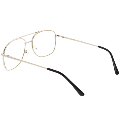 Vintage Indie Large Square Clear Lens Glasses C307