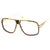 Rad Square Disco Clear Lens Aviator Glasses C324