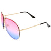 Retro Oversize Colorful Gradient Lens Aviator Sunglasses C336