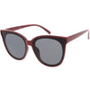 Women's Oversize Flat Infinity Lens Cat Eye Sunglasses C340