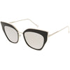 Women's Oversize Mirrored Flat Lens Cat Eye Sunglasses C348