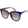 Women's Modern Infinity Flat Mirrored Lens Cat Eye Sunglasses C349