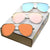Oversize Retro Modern Flat Mirrored Lens Aviator Sunglasses C361 [Promo Box]