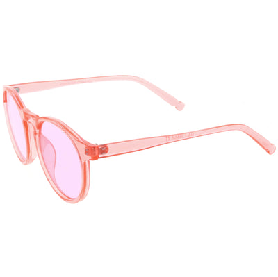 Round Festival Party Translucent Color Tone Tinted Lens Sunglasses C374
