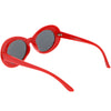 Retro 1990's Fashion Oval Clout Goggle Sunglasses 51mm C381