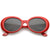 Oversize Retro Tapered Arms Oval Sunglasses 53mm C383