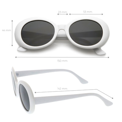 Oversize Retro Tapered Arms Clout Goggle Oval Sunglasses 53mm C383