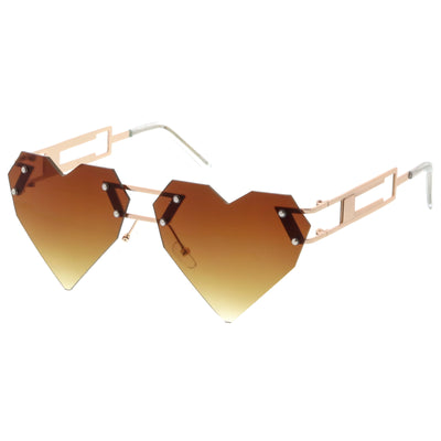 Novelty Laser Cut 8 Bit Heart Shape Sunglasses C439